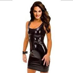 Black Friday Amour- Gothic Hot Sleeveless Dress Metallic Wetlook Clubwear Stripper from Amour Cyber Monday Sexy Dresses, Tight Dresses, Club Dresses, Plus Size Dresses, Short Dresses, Clubbing Dresses, Bandage Dresses, Mini Dresses, Party Dresses