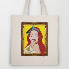 Lana Del Ray Tote Bag by Eltina Giannopoulou - $18.00 Lana Del Ray, Reusable Tote Bags, Art, Art Background, Kunst, Performing Arts