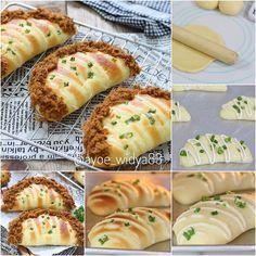 Masih fariasi roti kentang Abon yah moms. . Kali ini bentuknya kaya bulan separo 🌗🌗 😁😁. . Resep rotinya uda aku posting dipostingan…