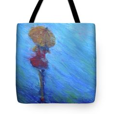 LADY IN RED Tote Bag for sale by T Fry-Green. $24.50 The tote bag is machine washable, available in three different sizes, and includes a black strap for easy carrying on your shoulder.  All totes are available for worldwide shipping and include a money-back guarantee. #ladyinred #yellowumbrella #girl #umbrella #rain #reddress #fashionbag #tfrygreenart #tfrygreen #homeatlaststudio #art #original #tote #toteart #fineartamerica