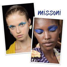 Missoni blue shadow SS16 #missoni #ss16 #nyfw #blue #shadow #makeup #ritaheroina