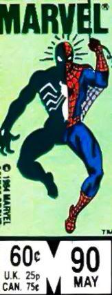 Marvel corner box art - Peter Parker the Spectacular Spider-Man (original and symbiote costumes)