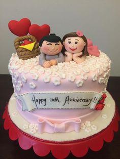 10th Wedding Anniversary Cake