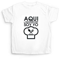 Camiseta para Niño Aquí el Master Chef Soy Yo!