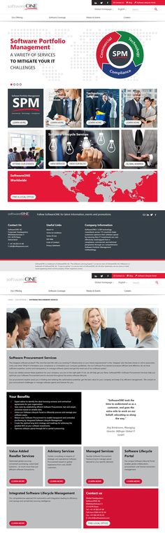SoftwareONE helps clients in managing all aspects of their software portfolio. Our main responsibility was to create a #website that is fully #responsive and compliant with the client's specific guidelines. In result, we created an interactive and unconventional #corporate website that highlights the unique nature of the company. Creative process was based on modern web technologies, such as Gulp.js system. To ensure the site is easy to manage, we based it on #Drupal CMS. www.softwareone.com