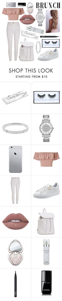 """cute mother's day ootd ⚜️"" by aliisaannna ❤ liked on Polyvore featuring Huda Beauty, Michael Kors, Miss Selfridge, River Island, Lime Crime, Aéropostale, Too Faced Cosmetics, Kenneth Cole, NARS Cosmetics and Chanel"