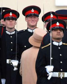 © Mark Cuthbert/UK Press via Getty Images   Prince Harry, commissioned as second lieutenant, during his passing out ceremony with the Queen as the Reviewing Officer at the Sovereign's Day Parade, Royal Military Academy at Sandhurst in Berkshire, England.