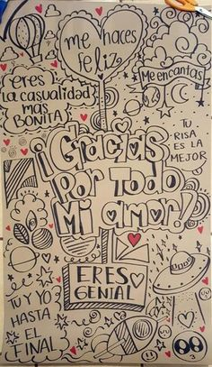 Ideas en imagenes y dibujos para cartas de amor Love Gifts, Diy Gifts, Amor Ideas, Love Messages, Love Letters, Boyfriend Gifts, Diy And Crafts, Graffiti, Love Quotes