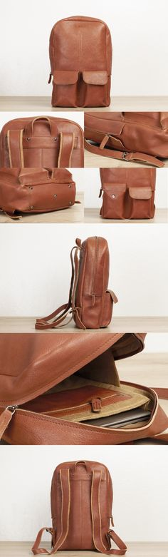 #brown #leather #backpack for #men by #TheLeatherExpert