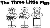 printable 3 little pigs