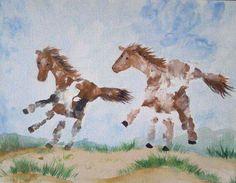Horse hand prints