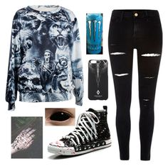 """""""~idk~"""" by xhollywoodundead-msp ❤ liked on Polyvore featuring River Island and Marcelo Burlon"""