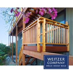 This extensive in process deck project shown here features Knotted Pine used in the decking and railings. The completed project will be a wonderful way to usher in the good weather.  #architecture #craftsmanship #designbuild #pdxarchitecture #pdxcontractor #pdxdesign #pdxremodel #portlandcontractor #customrailing #handrail #custom #naturalwoodgrain #woodcraft #wooddesign #woodfloor #woodflooring #woodgrain Construction Services, New Construction, Railings, Decking, Wood Design, Building Design, Wood Crafts, Pine, Weather