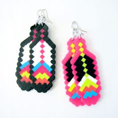 8-Bit Feather Fantasy Earrings by The Soft Museum