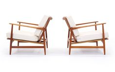 Pair of Kofod-Larsen Lounge Chairs for Selig 3
