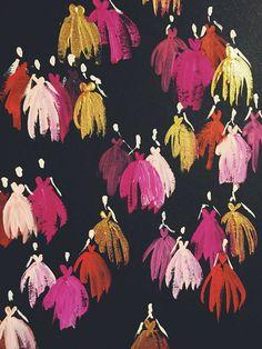 Dresses; is that wallpaper? killer!