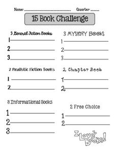 Book Challenge Reading Logs {Freebie!}