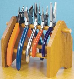 Wood Storage Rack for Pliers. I'd like one for my jewelry plyers.