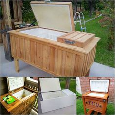 Repurpose your old  Fridge into Ice Chest great video Tutorial. Here's a great repurpose for that old fridge. This Drinks Chest Cooler is so easy when you know how. You will need to strip the fridge back so that all the 'running bits' are removed. This project is for a non-working fridge.