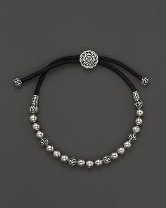John Hardy Men's Classic Silver Batu Meteorite Beaded Bracelet   Bloomingdale's