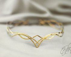 Elven diadem wedding Tiara bridal headband by glorfindiadems