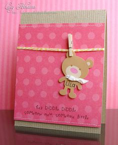 Baby card | Lucy's Cards http://www.lucys-cards.com/2012/05/card-for-jennifer.html