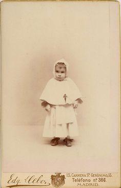 DEbas, Edg.: retrato de niño (Alfonso XIII). Carte cabinet, 1888.  Hesperus´ Collection