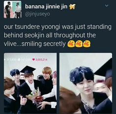 They where all so proud of eomma Jin! Melts my heart.