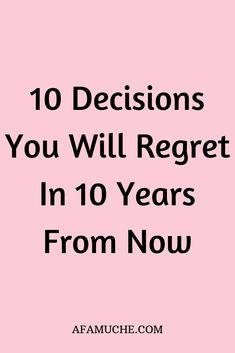 With each day comes an opportunity to make meaningful life decisions. Life is a journey and its smoothness is largely dependent on the decisions we make.Here are 10 Decisions you will regret in 10 years so you can take action today and change them. Deep Questions To Ask, This Or That Questions, 100 Questions, Personal Questions, Life Advice, Good Advice, Journal Questions, Life Decisions, Meaningful Life