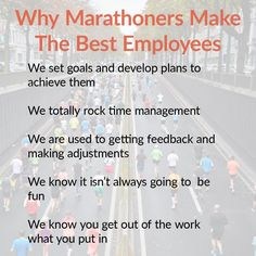 Marathoners make the best employees. Read the full article on my blog.