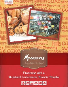 Merwans - It's not a Bakery! It's a Legacy!! Franchise with a Renowned Confectionery Brand in Mumbai. Merwans Confectioners, There's Something for Everyone! Merwans Confectioners is a brand associated with memories and tell-a-tales. People belonging to all walks of life relish the custom made bakery products. These fresh and delicious Confectioneries are made in their ultra-modern manufacturing unit in Mumbai. #MerwansConfectioners #businessopportunities #Business #Opportunities #Franchise