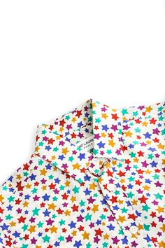 979c80e69ea5 Saint Laurent  Multi Color Star Print Shirt Velkommen