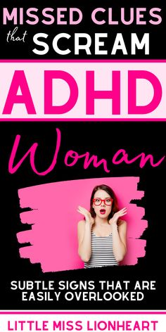 These subtle (and not so subtle) ADHD signs should have tipped me off. Many ADHD women can relate to these (and many ALSO didn't know they pointed to ADHD!) Some of these are so subtle they get mistaken for anxiety--it's like they hide in plain sight. Do you experience these covert signs of the ADHD woman? Causes Of Adhd, Adhd Facts, Adhd Odd, Adhd Signs, Adhd Help, Adhd Brain, Personality Psychology, Adult Adhd, Medical Information