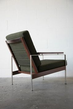 Rob Parry; Teak, Rosewood and Brushed Steel Lounge Chair for Gelderland, 1960s.