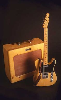 1950 Fender Broadcaster, the prototype for what became the Telecaster. Fender changed the name of the Broadcaster after being contacted by the Gretsch Company, who had a similarly named Broadkaster drum set.