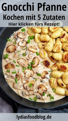 Creamy mushroom cream sauce with gnocchi, recipe, # mushroom cream sauce # creamy . - Creamy mushroom cream sauce with gnocchi, recipe, # MushroomsCream sauce # creamy recipeshea - Easy Dinner Recipes, Pasta Recipes, Salad Recipes, Chicken Recipes, Easy Meals, Healthy Recipes, Cake Recipes, Dessert Recipes, Cooking Recipes