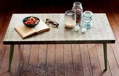 DIY Furniture  : DIY  Make a Lace Patterned Coffee Table