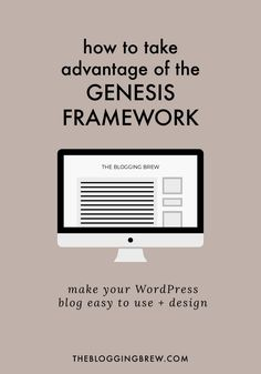 The Genesis Framework is a fantastic purchase for both new and old WordPress users. I design all of my blogs using it,  and now I'm sharing all of my favorite features!