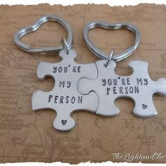 Shop Personalized Couples Key Chain on Wanelo