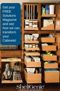 Frustrated with your pantry storage? Our solutions can help, learn more!