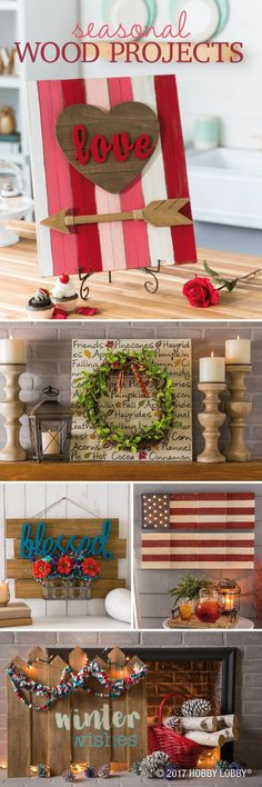 Celebrate the seasons with these DIY wood projects!