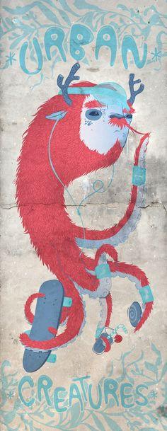 Urban Creatures by luiza kwiatkowska, via Behance
