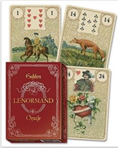 One thing that always tickles me about reading tarot is how playful the Universe is. I started experimenting with Lenormand out of this sense of play. I haven't committed to a forever deck yet but the Golden Lenormand Oracle by Lo Scarabeo is a contender. Wiccan Witch, Magick, Pagan, Tarot Decks, Gold Foil Background, Fortune Telling Cards, Love Tarot, Pink Images, Oracle Cards