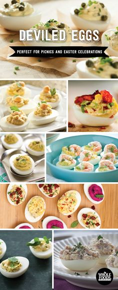 Unbelievable Deviled Egg Recipes! Chickpea Deviled Eggs // BLT Deviled Eggs // Lemon-Caper Deviled Eggs // Watercress and Green Onion Deviled Eggs // Inside-Out Easter Eggs // Double-Stuffed Deviled Eggs with Ham // Mediterranean Deviled Eggs // Deviled Eggs with Shrimp