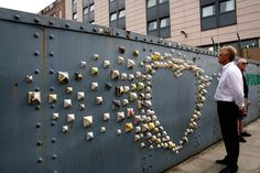 A special installation made from the trusty old yellow pages directory was created for the event to liven up a rusty wall