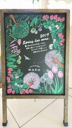 Blackboard Art, Chalkboard Ideas, Blackboards, Chalk Art, Gallery, Spring, Frame, How To Make, Inspiration