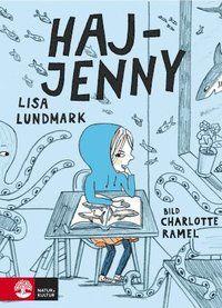 """""""Haj-Jenny är en finstämd, varm och humoristisk kapitelbok av den lovande debutanten Lisa Lundmark. /.../ Berättelsen är generöst illustrerad av Charlotte Ramel."""" Helene Ehriander, BTJ """"Lisa Lundmarks debutbok """" Haj-Jenny"""" är en lättläst och tankeväckande historia om att vara olika och att få välja själv, om att hitta nya möjligheter och ge plats åt fantasin och tänkandet."""" Jonna Fries, Ystads Allehanda Magistern säger: »PRATA HÖGT.« Mamma säger..."""