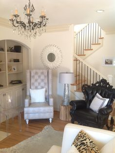 Molly Kate's ARTeriors Room Corner, Stairs, Living Room, Bedroom, Ideas, Home Decor, Stairway, Decoration Home, Staircases