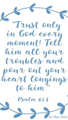 Trust only in GOD! In every moment... tell him ALL of your troubles #godquotes http://quotags.net/ppost/473722454541327607/