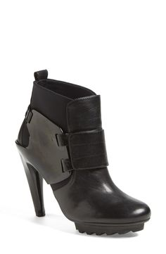 """United Nude Collection 'Winter Eros' Bootie. Descried as """" a futuristic, Rocker- Chic vibe to a bold mixed media bootie."""